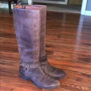 Enzo Angiolini tall leather brown boots  7 1/2